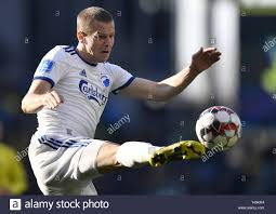 Brondby, Denmark. 14th Apr, 2019. Dennis Vavro, FC Copenhagen during the  Superleague soccer match between Brondby