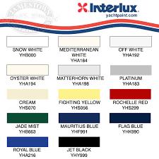 Interlux Paint Chart Interlux Brightside Polyurethane Marine Paint Colors