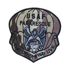 embroidered patch usaf pararescue me patch tactical emblem badges embroidery patches for jackets jeans backpack cap in patches from home garden on