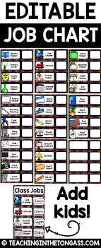 Classroom Helpers Pocket Chart Classroom Jobs Editable Class Jobs With Pictures
