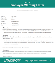 Light Duty Doctors Note Example Employee Warning Letter Template Us Lawdepot