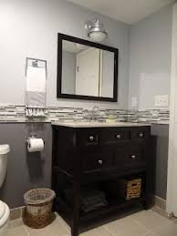 Backsplash Bathroom Ideas Gorgeous Two Tone Paint With Tile Inbetween For The Home Pinterest