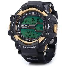 mens watches rubber band best deals online shopping gearbest com 8338g multifunctional men led sports watch digital wristwatch
