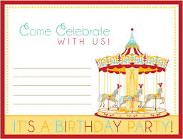 Circus Party Invitation Simple Free Carnival Ticket Invitation Template Download Free Clip Art