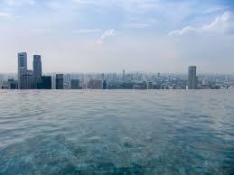 infinity infinity pool marina bay sands mbs singapore skyline