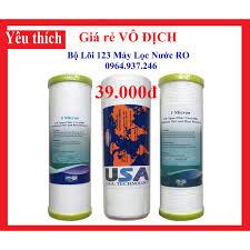 Gói 3 Bộ Lõi Lọc 123, Bộ lọc thô 1 2 3 Máy lọc nước Ro giá rẻ chính hãng  110,000đ