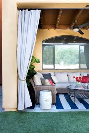 diy pipe and drop cloth outdoor curtains