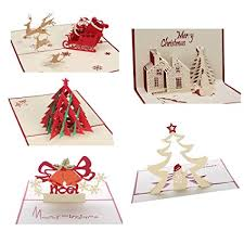 Christmas Cards Images Amazon Com 3d Christmas Cards Pop Up Greeting Holiday Cards Gifts