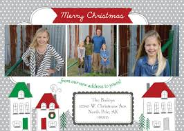 Impressive Design Ideas New Address Christmas Cards Astonishing ...