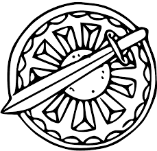 Portfolio Ctr Shield Coloring Page Printable Free Download Clip Art