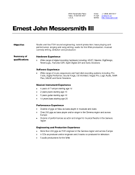 Engineering Stunning Resume Examples For Sound And Audio Engineer