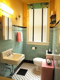 1940 Bathroom Design Awesome Kristen And Paul's 48s Style Aqua And Black Tile Bathroom Built