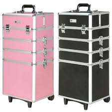 my ping cart makeup train case large professional cosmetics wheeled