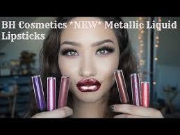 new bh cosmetics metallic liquid lipsticks swatches first impressions review