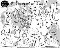 Small Picture Printable Paper Doll Coloring Page
