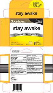 good sense stay awake l perrigo company caffeine mg tablet full full size image