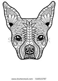 Small Picture Boston Terrier French Bulldog Adult Coloring Stock Vector