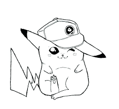 pokemon coloring pages ninja pikachu colouring cute ex together