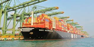 port company color chart singapore port welcomes largest ever container vessel