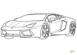 Lamborghini Aventador Supercar Super Coloring Drawings In