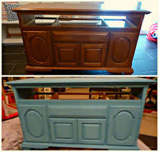 chalk painted tv cabinet