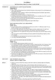 Big Data Sample Resume Data Software Developer Resume Samples Velvet Jobs 21