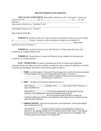 Free Printable Residential Lease Agreements Printable Agreements