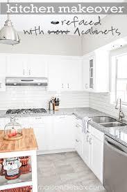 How Reface Kitchen Cabinets Mesmerizing Refacing Kitchen Cabinets Maison De Pax
