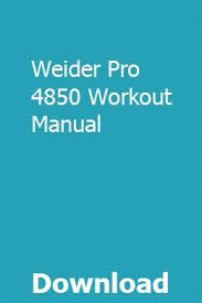 Weider Pro 4850 Exercise Chart Weider Pro 4850 Workout Manual Mopoceshert Repair