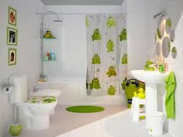 Kids Bathroom Kids Bathroom With White Fixtures And Green Accessories Nice