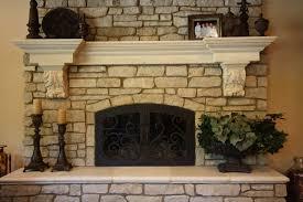 Decorative Fireplace Stones Cheap Good Looking Fireplace Design