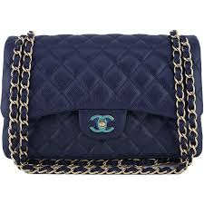50 best Chanel bags images on Pinterest | Backpacks, Accessories ... & Pre-Owned Chanel Navy Blue Caviar Jumbo 2.55 Classic Double Flap Bag  ($5,900) Adamdwight.com