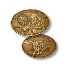 U S Navy Seal Naval Special Warfare Command Bronze Challenge Coin