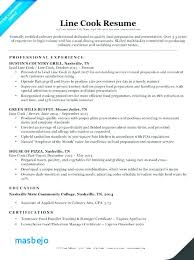 Line Cook Resume Gorgeous Line Cook Resume Examples Culinary Resume Samples Digiart Resume