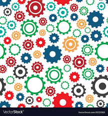 Gear Pattern Awesome Gear Machine Pattern Industry Royalty Free Vector Image