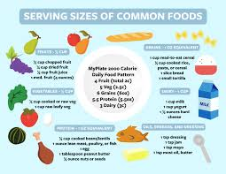 Food Portion Size Chart Serving Size Guide Caldining