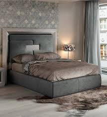 ESF Enzo Gray Wood King Bedroom Set 5Pcs Modern Contemporary Made In Spain