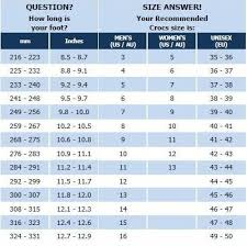 Crocs Size Chart Sole Central