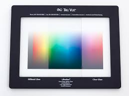 tru vue specifier frame comparing regular and etched glass to anti reflection glass
