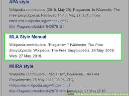 Mla Format For Articles The Best Way To Cite A Wikipedia Article In Mla Format Wikihow