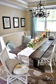 cozy dining room i saw that type of bench at world market i love it but with diffe chairs