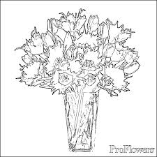Small Picture Tulip Coloring Pages ProFlowers Blog