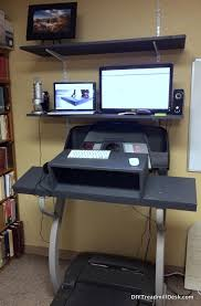 an updated photo of my diy treadmill desk from 10 21 13 this