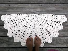sophisticated half round rug soft ecru cotton crochet rug in half circle x rugby league world sophisticated half round rug