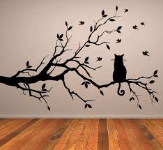 tree branches wall decor beautiful cat long tree branch wall sticker animals cats and dogs