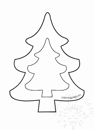 Christmas Tree Stencil Printable Christmas Tree Drawing Template Free Download Best