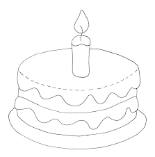 Birthday Cake Coloring Page With No Candles Printable Pages Pictures