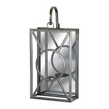 glass wall mounted candle holder