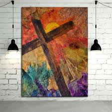 top supplier whole high quality abstract cross oil painting on canvas handmade abstract cross canvas painting in painting calligraphy from home