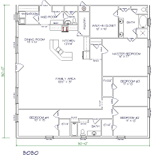 barndominium house plans. 4 bed, 2 bath \u2013 50\u0027x50\u2032 2500 sq. ft. barndominium house plans s
